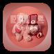 GO Keyboard Teddy Bear Pink by Keypad Emoji Keyboard Theme Design