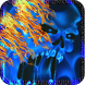 Blue Ghost Skull Fire Live Wallpaper by Dark Manta Studios