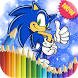 Coloring Book For Sonic Games Dash by mynewappspro