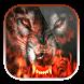 Fire wolf by lovethemeteam