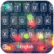 Rainy night neon keyboard by Enjoy the free theme