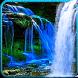 Blue Nature Waterfalls LIve Wallpaper by Dark Manta Studios