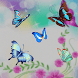 Blue butterfly flower theme by cooltheme888