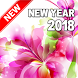 Happy New Year 2018 (Flowers) by Pinza