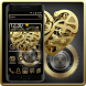 Black Golden Metal Theme by Cool Theme Love