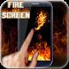 Fire on screen
