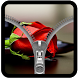 Red Rose Screen Lock Zipper by SC App Media