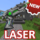 Laser weapons for MCPE by Tarkala Mods