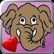 Baby Elephant in love by Carlo Lollo