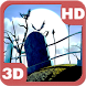 Spooky Halloween Graveyard 3D by PiedLove.com Personalizations