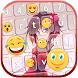 Anime Keyboard Themes with Emojis by Super Cool Girl Games and Apps Free