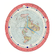 Flat Earth Map Clock by Mindset4Change.Foundation Apps Team