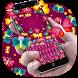 Colorful Neon Butterfly Keyboard