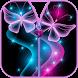 Butterfly Zipper Lock Screen by SoftexApps
