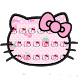 Pink Cute Kitty Bowknot Cartoon keyboard Theme by Kitty Theme