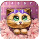 Cute Kitty Design Keyboard by Pink Girly Apps