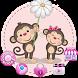 Monkey Cute Theme by Cool Theme Love