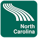 North Carolina Map offline by iniCall.com