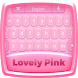 Lovely Pink Keyboard Theme by Dev Themes