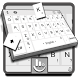 Pearl White Keyboard Theme by Love Free Themes