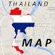 Thailand Kanchanaburi Map