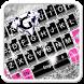 Pink Silver Diamond Keyboard Theme by 7star princess