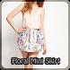 Floral Mini Skirt by Jillian Jones