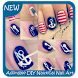 Adorable DIY Nautical Nail Art by ODPixel