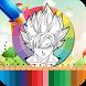 Coloring Book Super Saiyan Game by Coloring Glowing