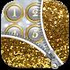 Zipper Lock Screen Glitter by Heather Art