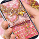 Pink Diamond Gold heart Theme by cool theme creator
