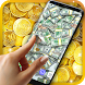 Real Money Live Wallpaper by 3D HD Moving Live Wallpapers Magic Touch Clocks