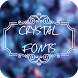 Crystal Font for FlipFont , Cool Fonts Text Free by Free FlipFont Studio