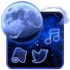 Glitter Night Launcher by Cool Wallpaper