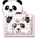Cute Panda Keyboard Theme by Luxury Keyboard Theme
