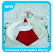 Christmass Fold Napkins Step by Step