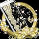 Golden Diamond Bowknot Theme, Black Rose Wallpaper