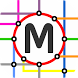 Sapporo Tram Map by MetroMap