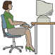 وضعية الجلوس امام الكمبيوتر by T.Awadh