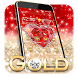 Golden Diamond Heart Theme by Cool Themes & Wallpapers 2017