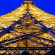 Eiffel Tower at Night LWP by solar trap studio
