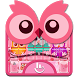 Colourful Owl Keyboard Theme by Fashion Cute Emoji