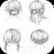 Hair Drawing Tutorials by Kosamabi
