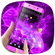 Neon Purple Flower Theme by Cool Theme Love