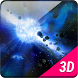 Nice Space Asteroids 3D LWP by Princess Pinks