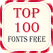 Top 100 Fonts Free by Fonts Free For All Data