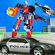 police robot car transform sim