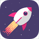 Rocket In Space by Upapps