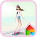 Lovely Girl (boards cruisers) by iconnect for Phone themeshop
