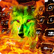 Neon Wolf Keyboard Theme by keyboard themes emoji for Kaka keyboard